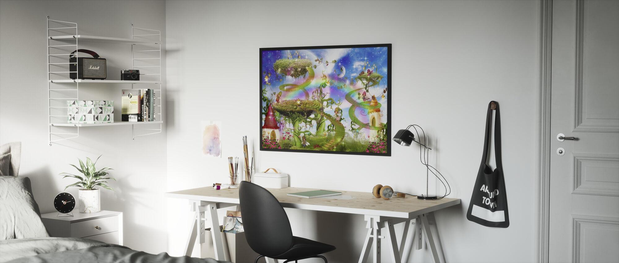 Taika-sateenkaari - Kehystetty kuva - Lastenhuone