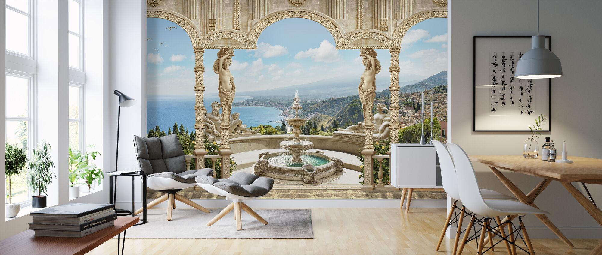 Antique Fountain - Wallpaper - Living Room