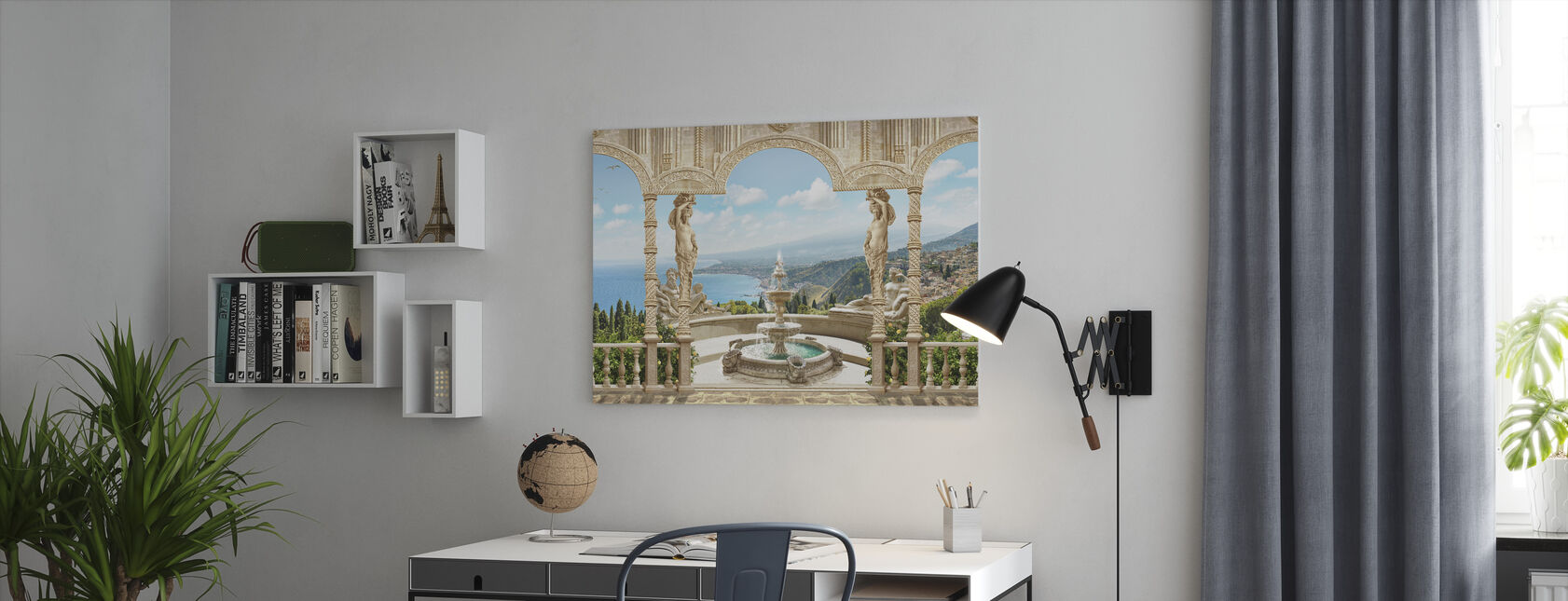 Antique Fountain - Canvas print - Office