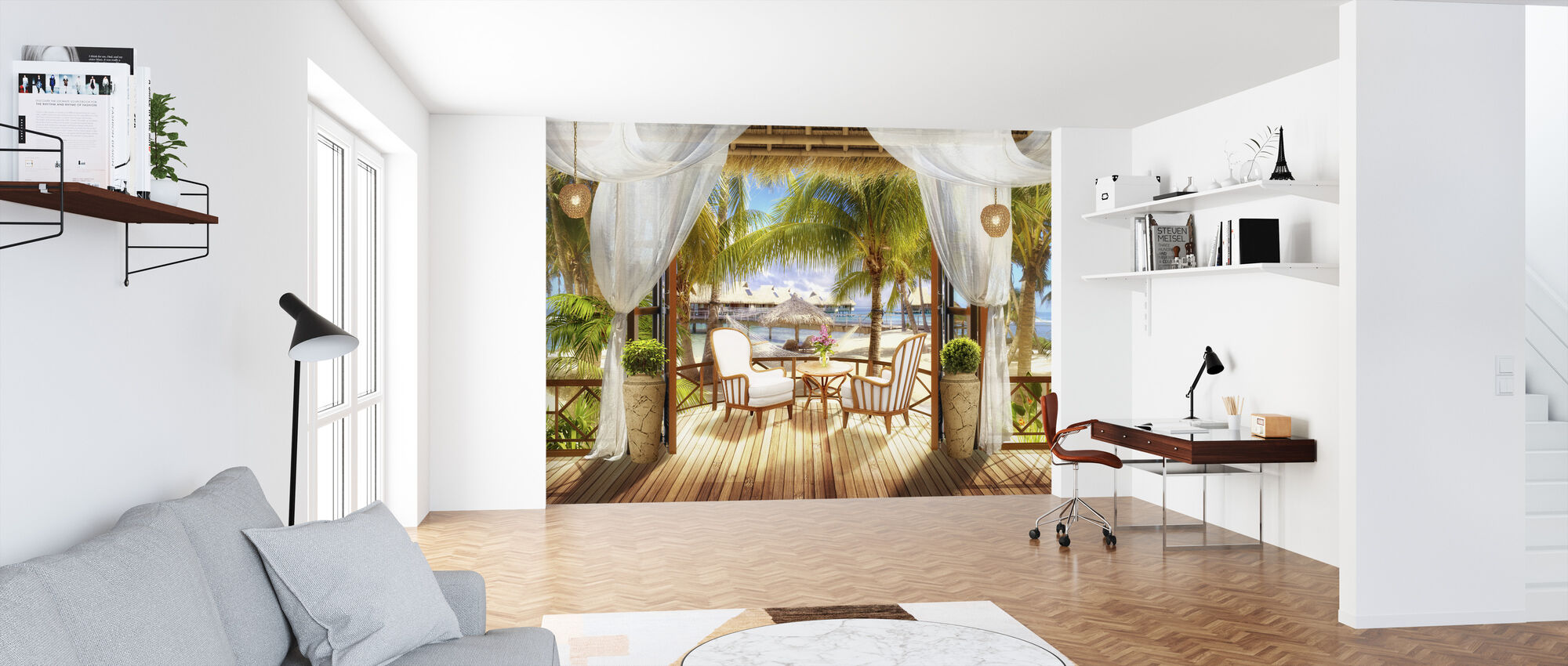 Bungalow in Paradise - Wallpaper - Office