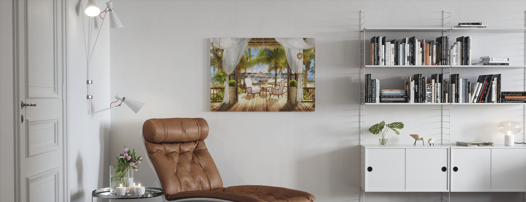Bungalow in Paradise - Canvas print - Woonkamer