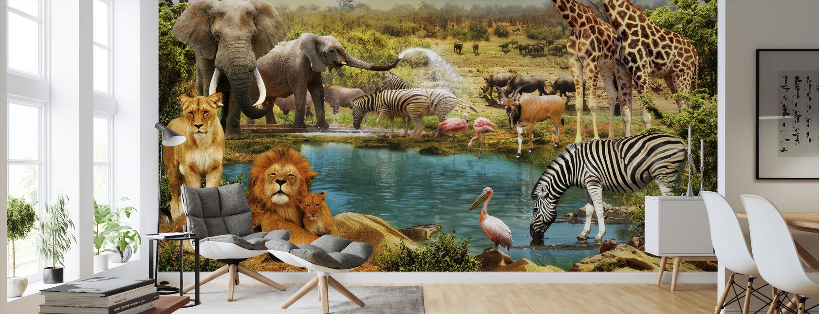 Fantasy Savanna Animals - Wallpaper - Living Room