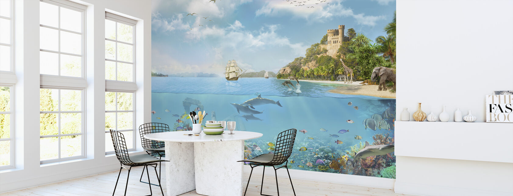 Navy Paradise - Wallpaper - Kitchen