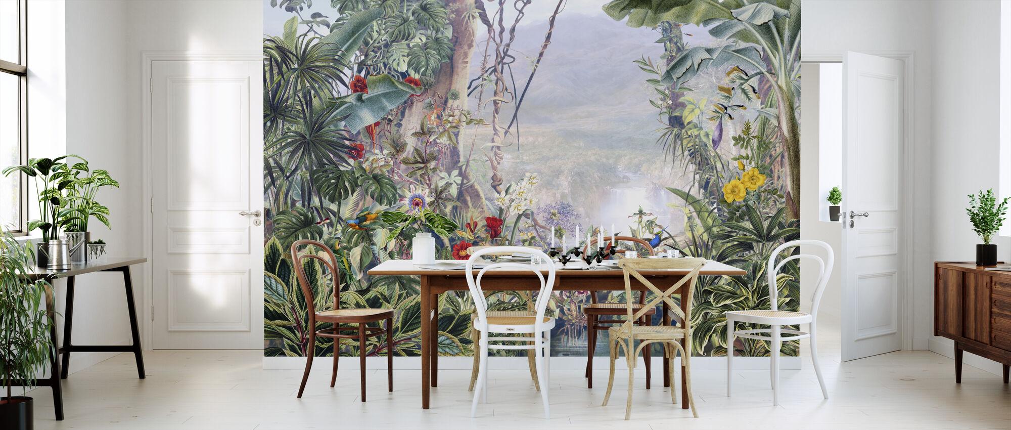 Misty Tropical Jungle - Wallpaper - Kitchen