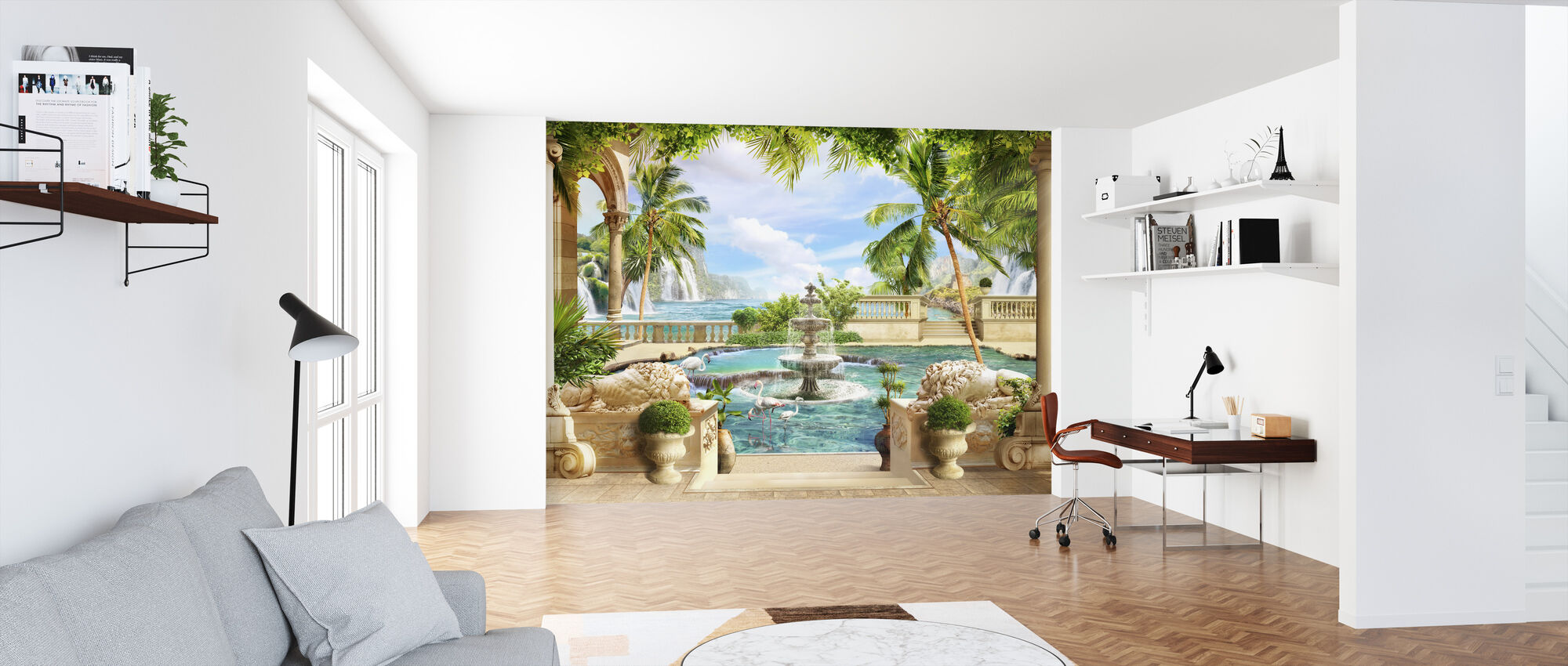 Fountain in Paradise - Wallpaper - Office