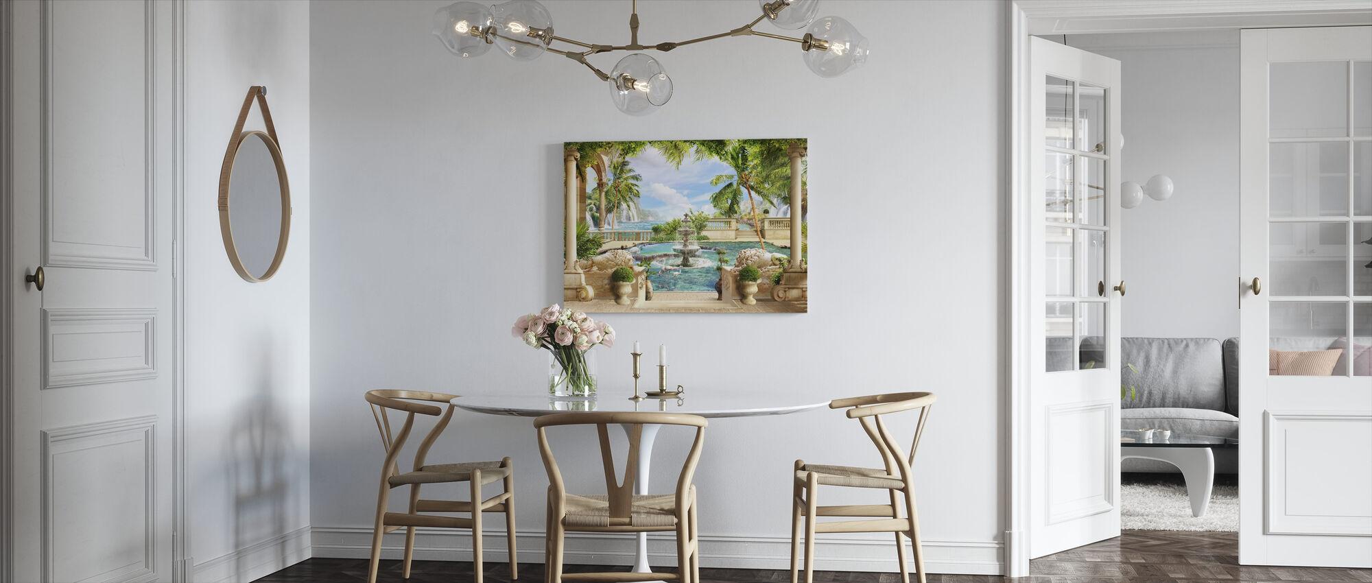 Fontein in het Paradijs - Canvas print - Keuken