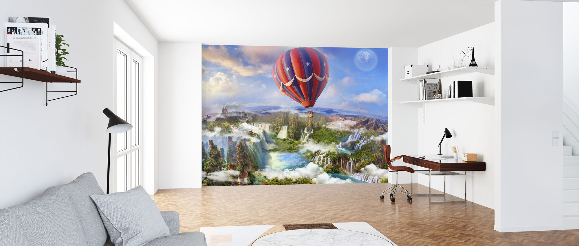 Hot Air Balloon - Wallpaper - Office