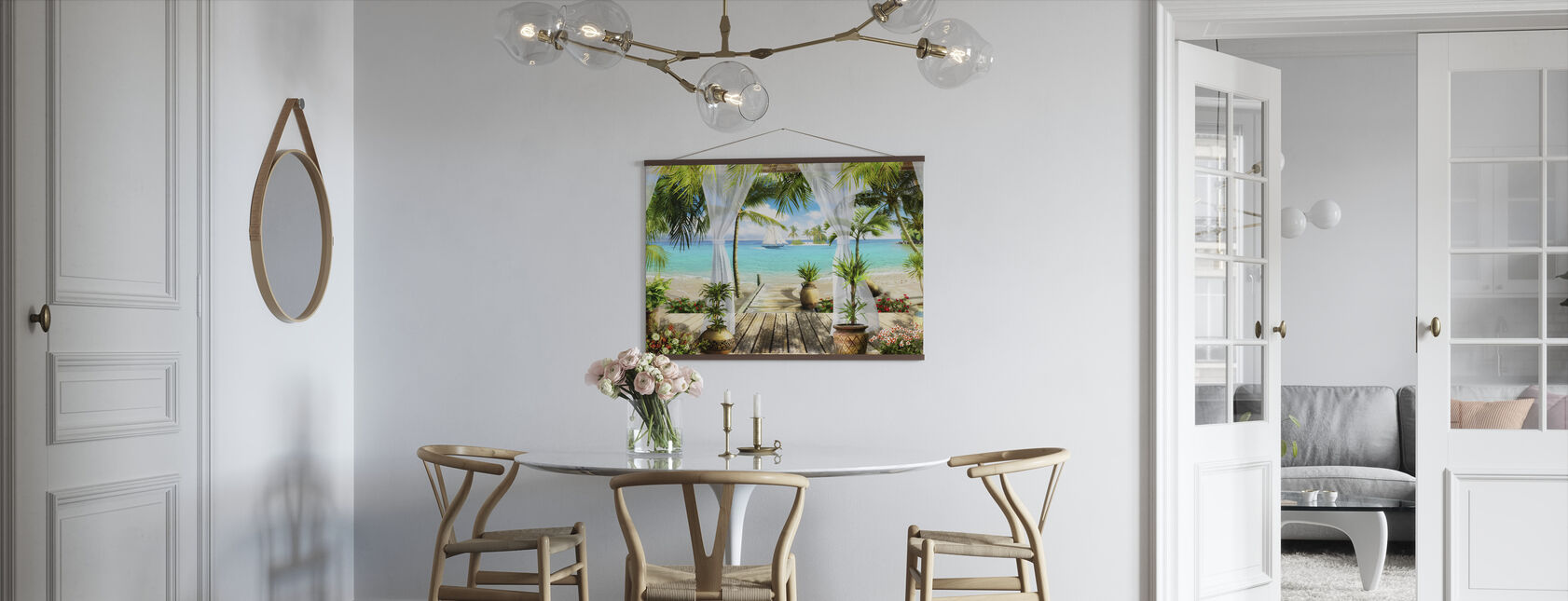Bungalow on the Beach - Poster - Kitchen