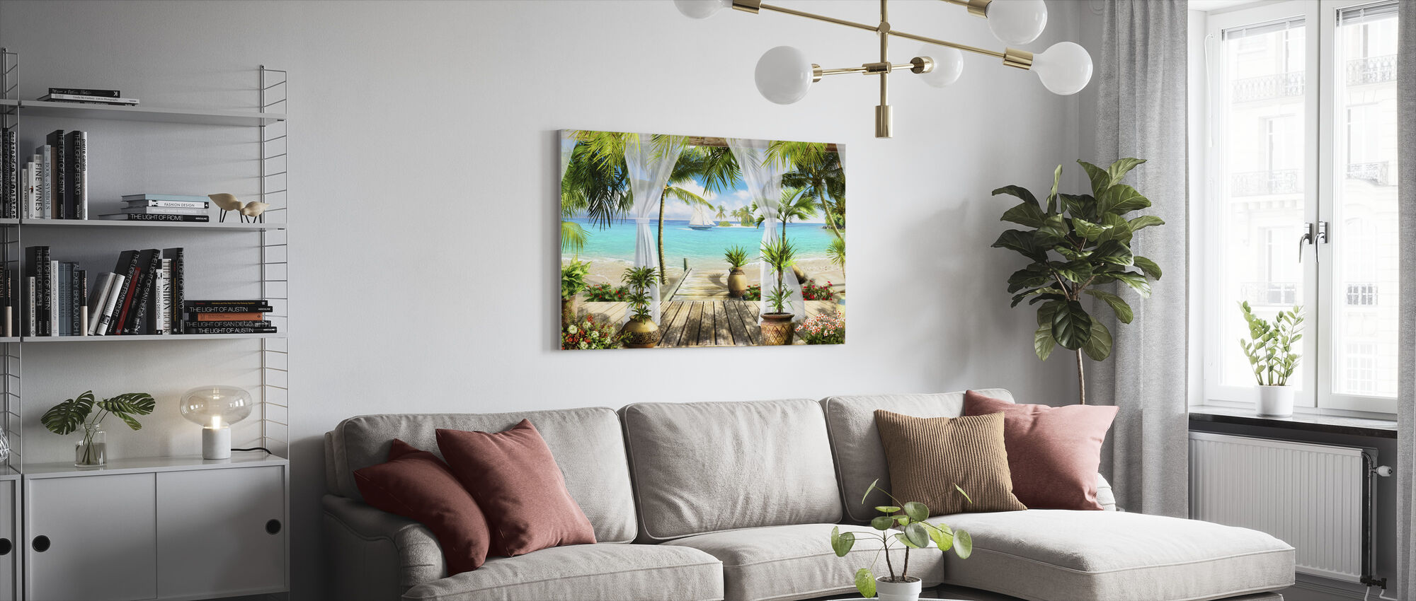 Bungalow on the Beach - Canvas print - Living Room
