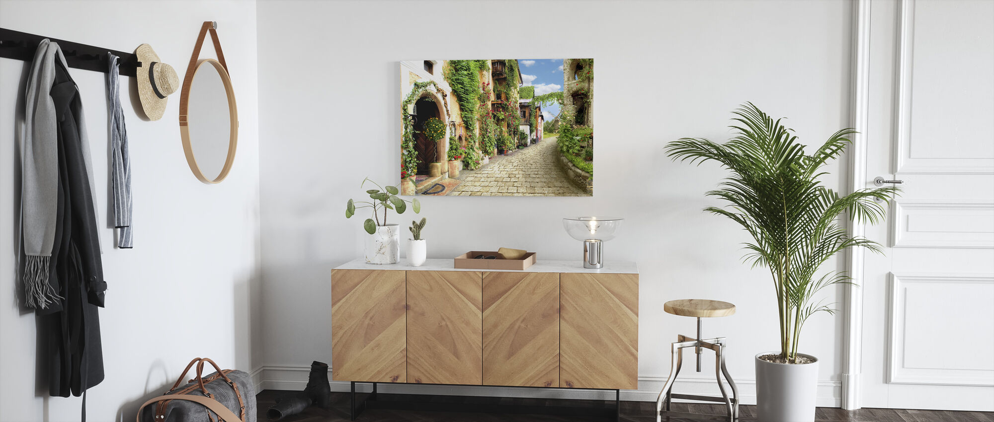 Floral Houses - Canvas print - Hallway