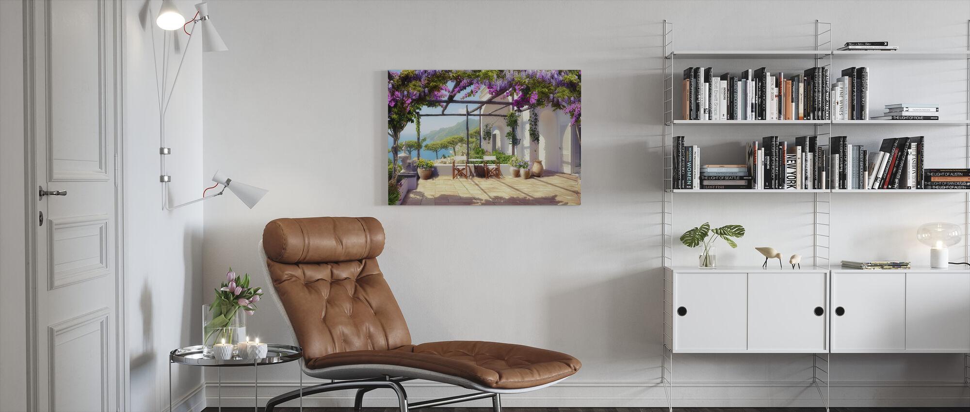 Blossom Patio - Canvas print - Living Room