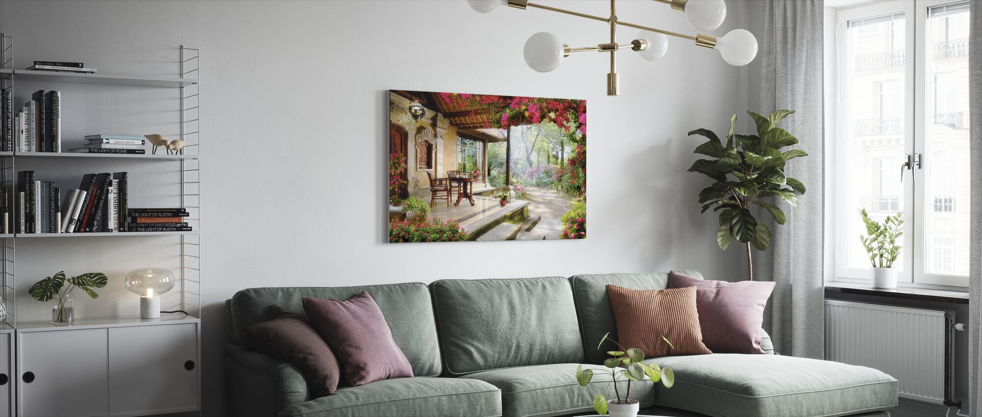 Lovely Garden - Canvas print - Living Room