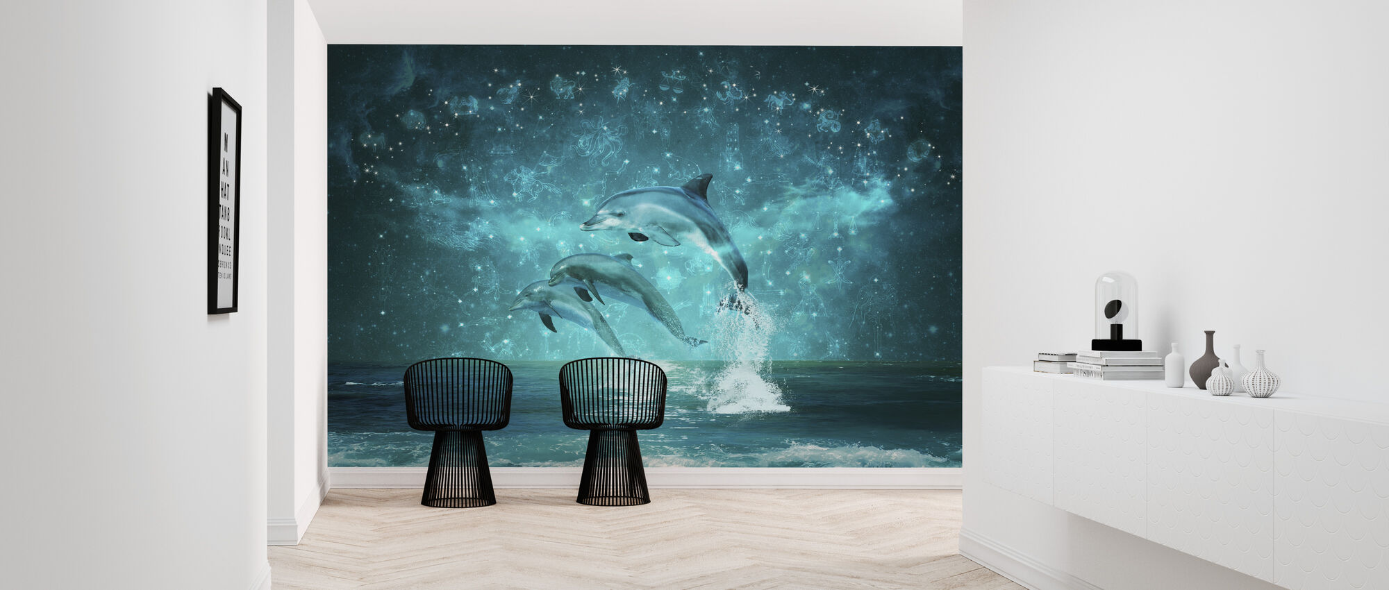 Jumping Dolphines - Wallpaper - Hallway