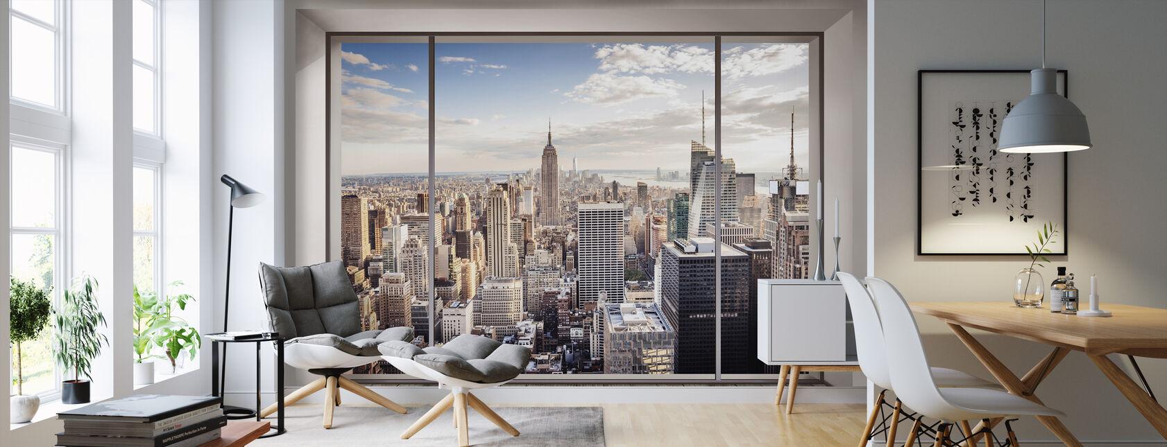 Manhattan Skyline - Wallpaper - Living Room