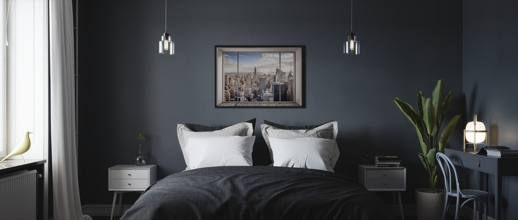 Manhattan Skyline - Framed print - Bedroom
