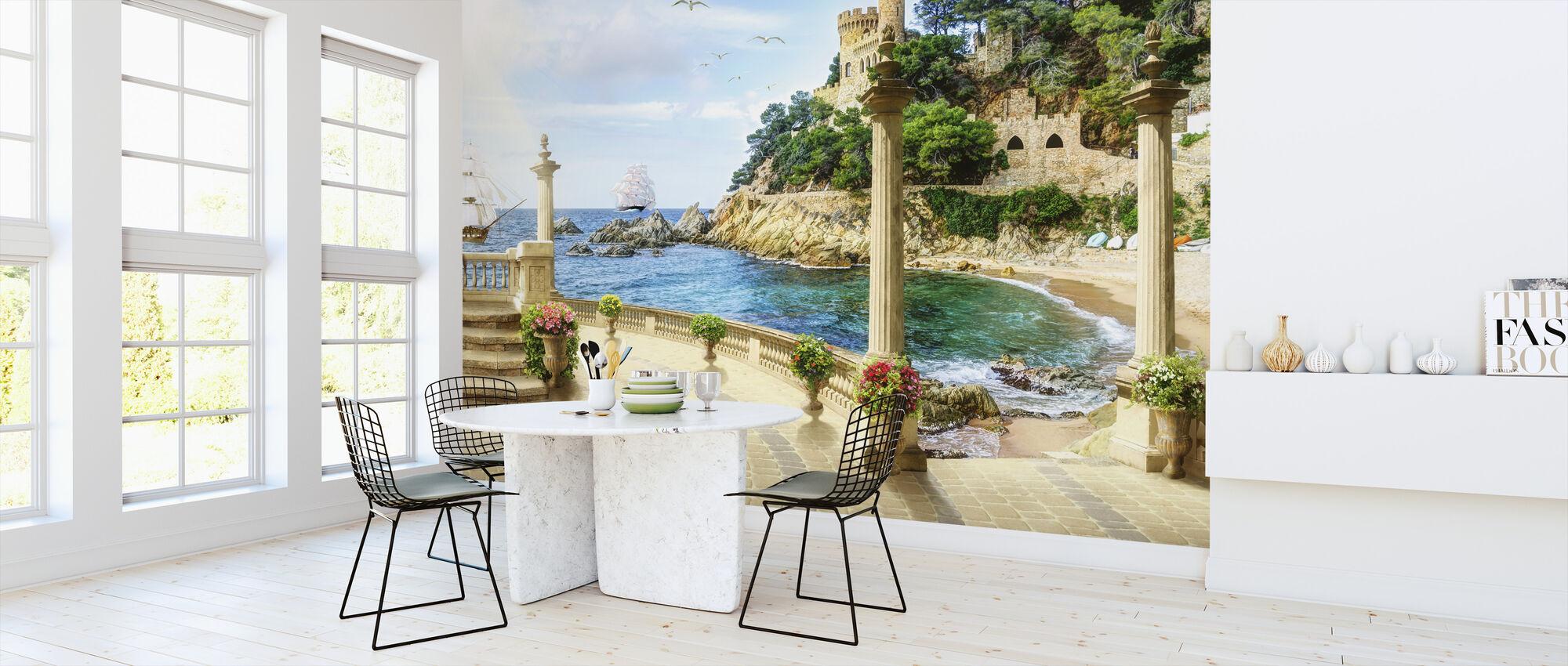 Beautiful Bay - Wallpaper - Kitchen