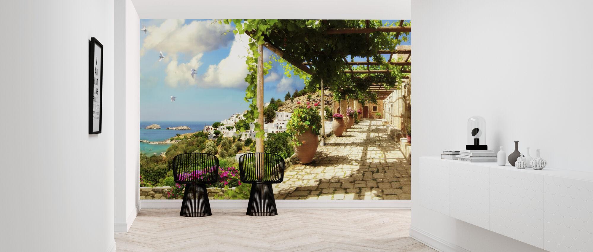 Mediterranean Island - Wallpaper - Hallway