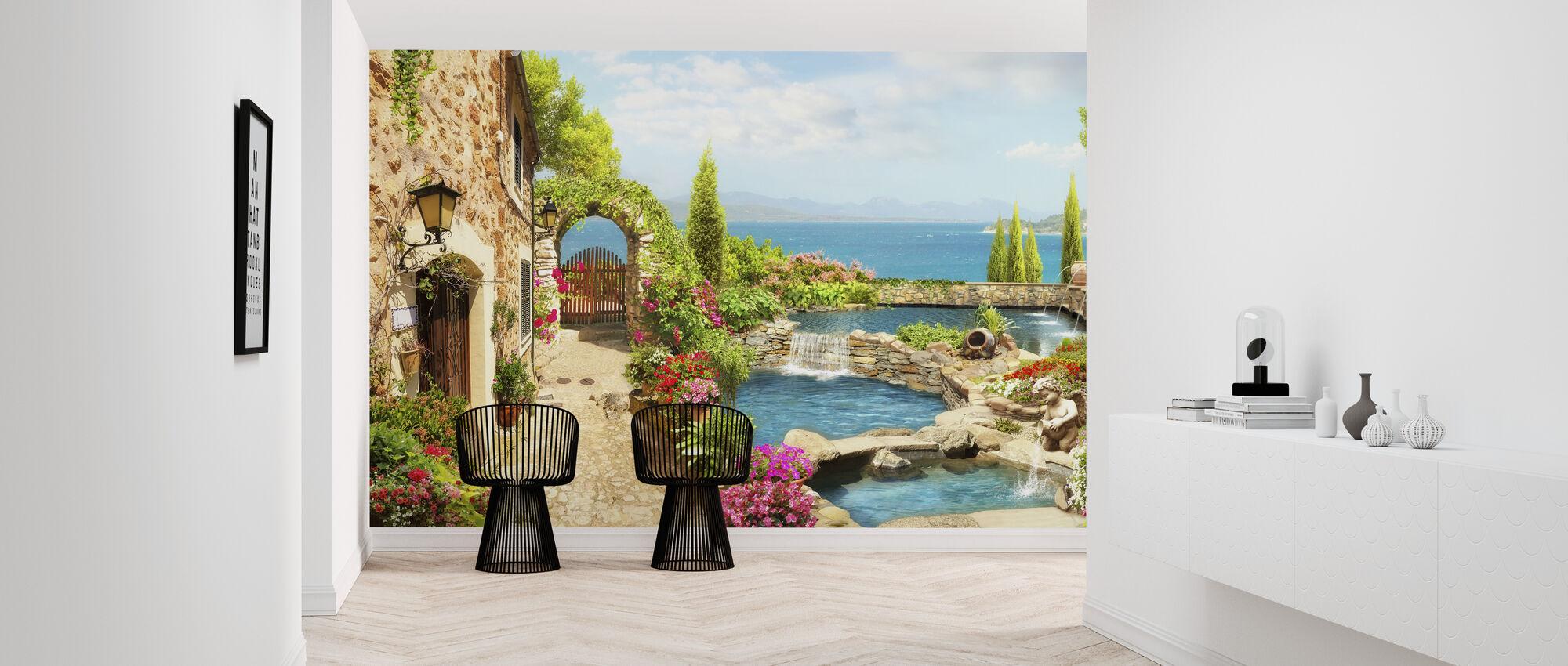 Beautiful Pond - Wallpaper - Hallway