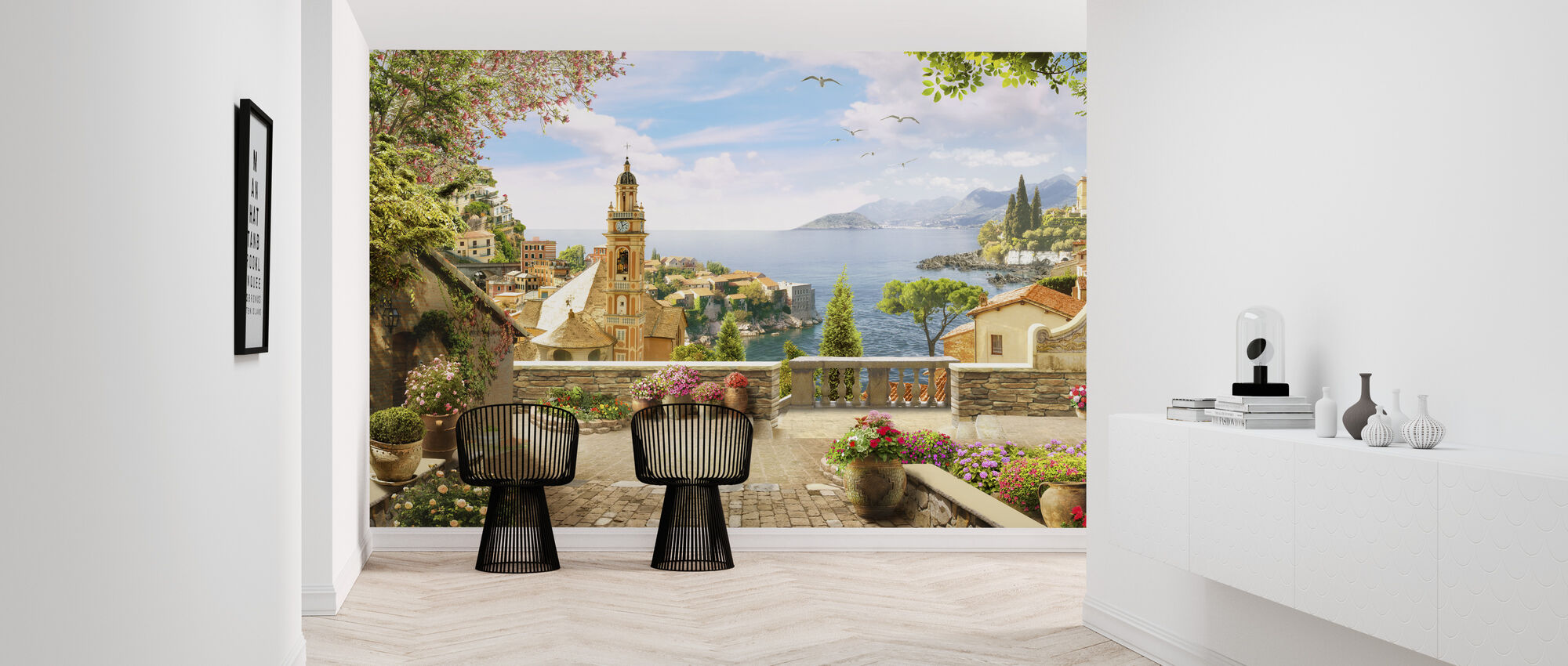 Stunning View of Amalfi - Wallpaper - Hallway