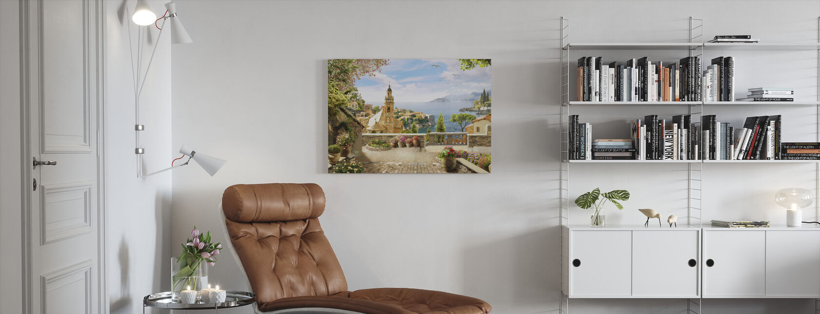 Stunning View of Amalfi - Canvas print - Living Room