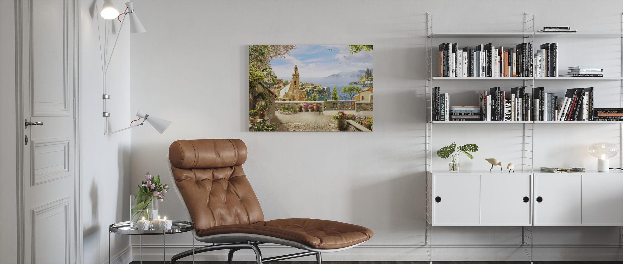 Stunning View of Amalfi - Canvas print - Living Room