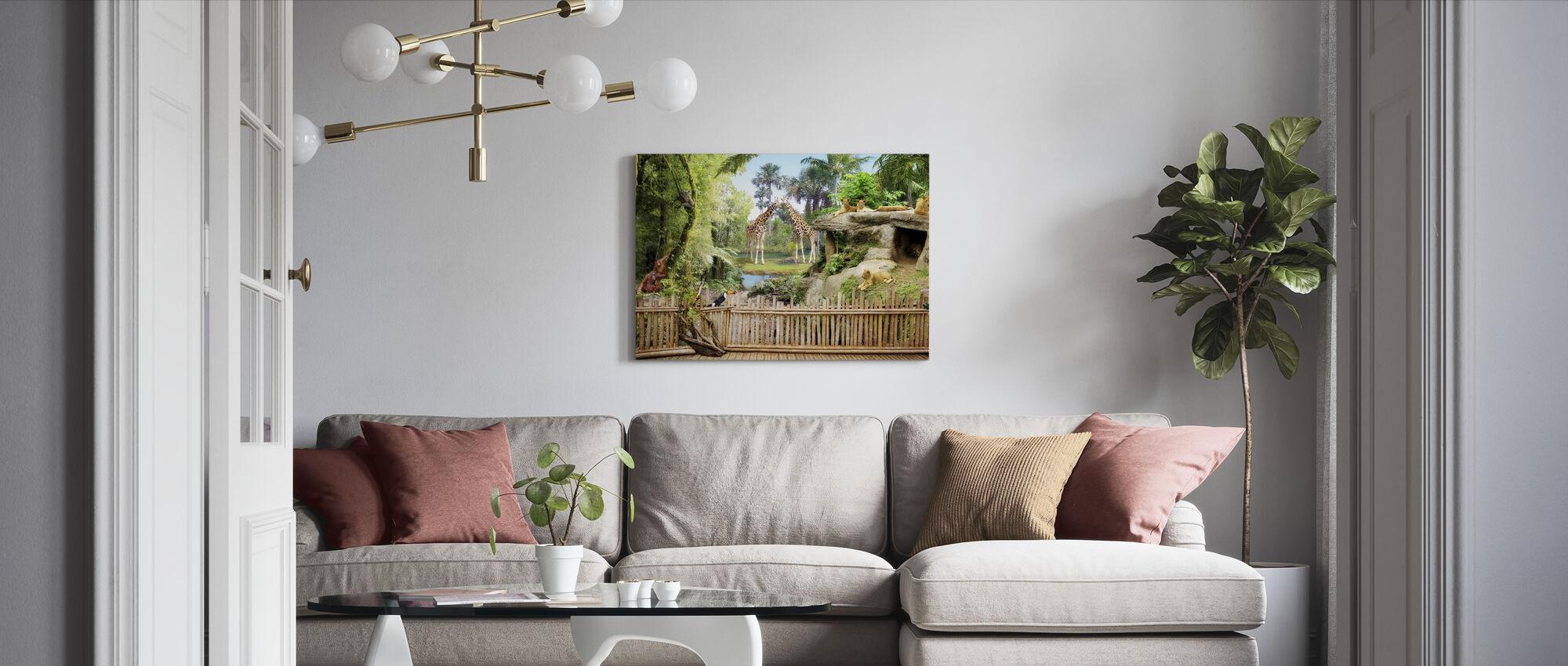 Zoo Animals - Canvas print - Living Room
