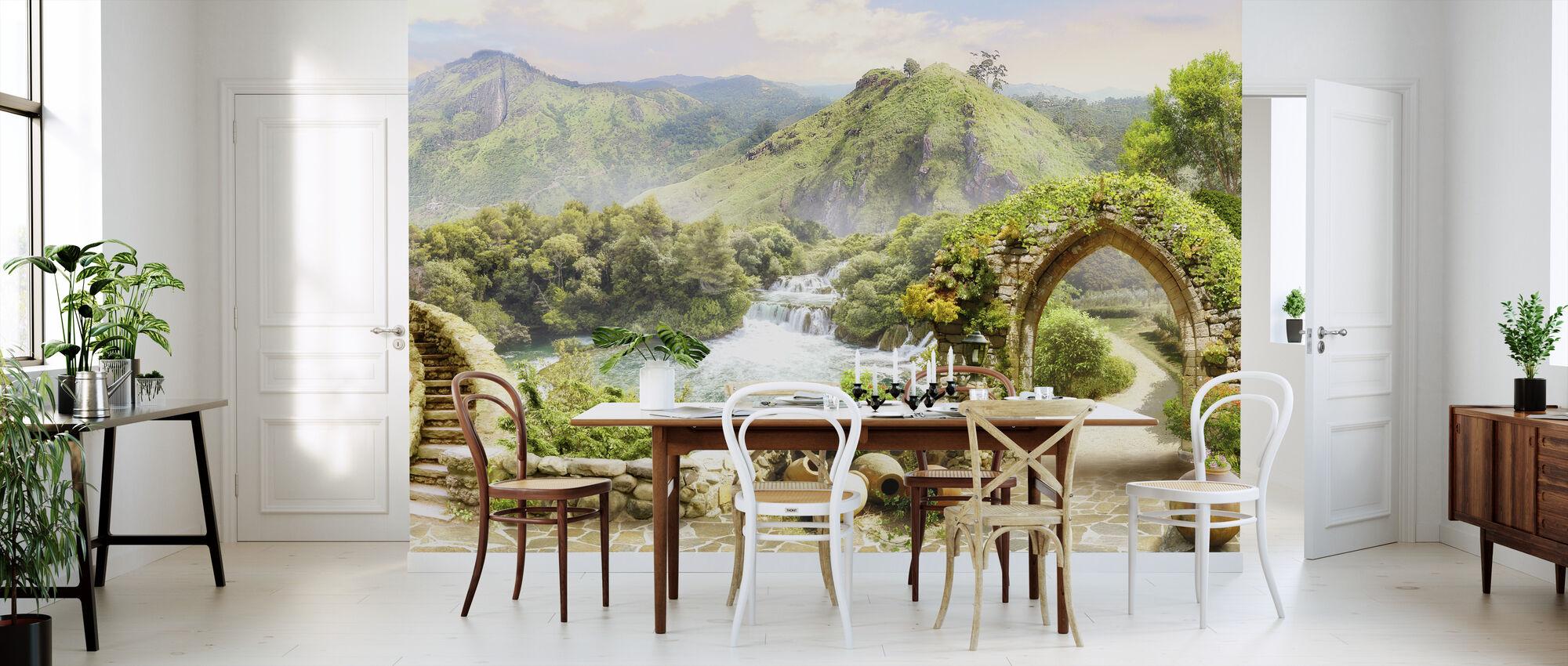 Peaceful Scenery - Wallpaper - Kitchen