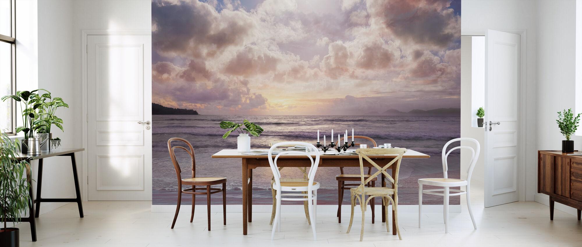 Roze Horizon - Behang - Keuken
