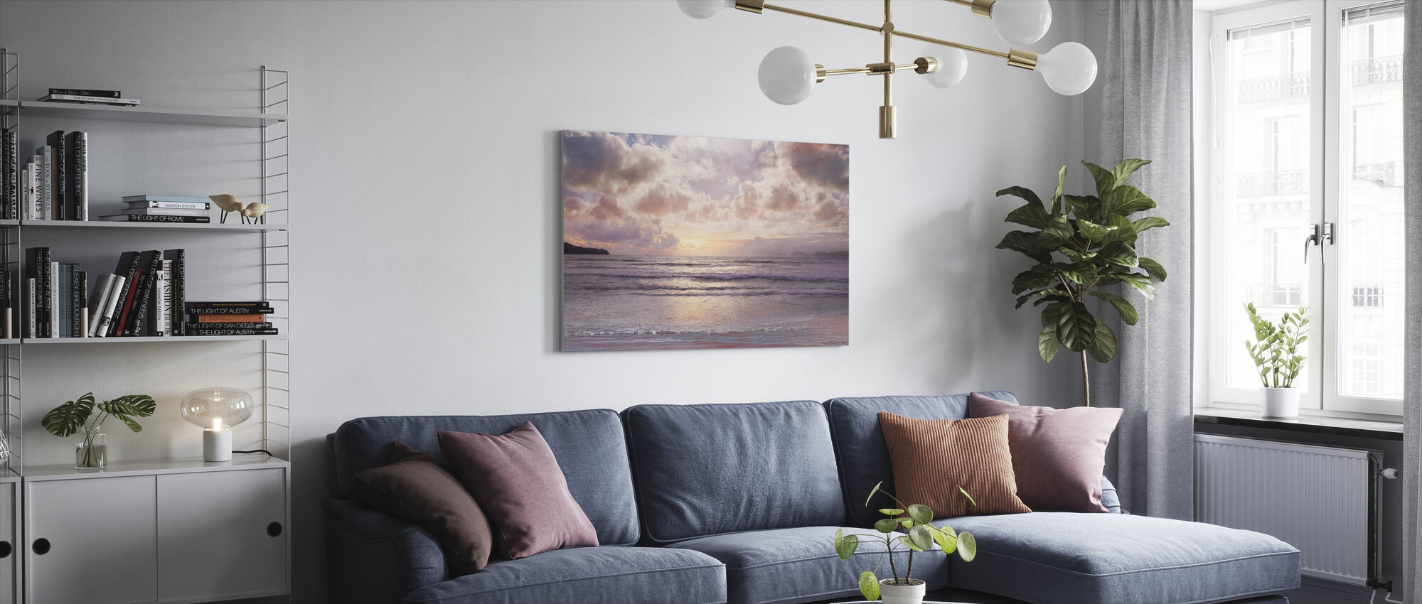 Pink Horizon - Canvas print - Living Room