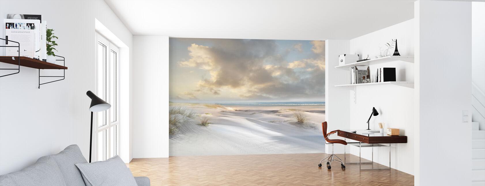 Strand van zandduinen - Behang - Kantoor