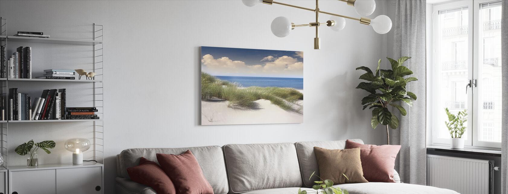 Græsklædte sandklitter - Billede på lærred - Stue