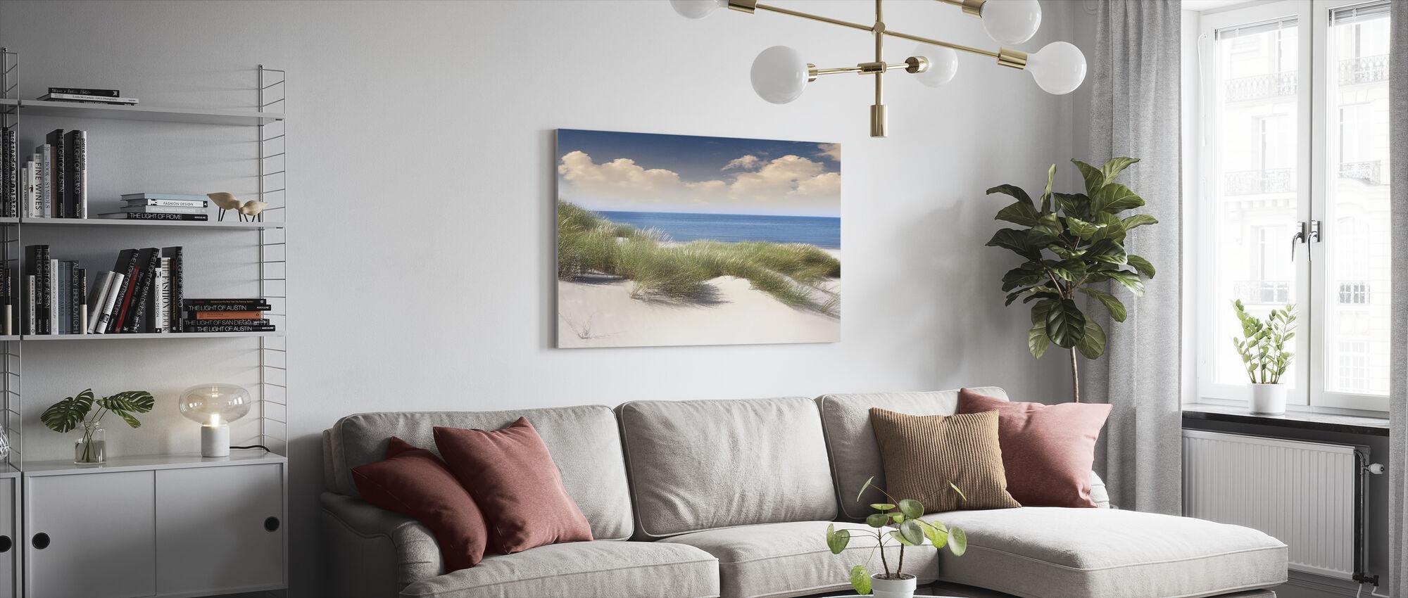 Gresset sanddyner - Lerretsbilde - Stue