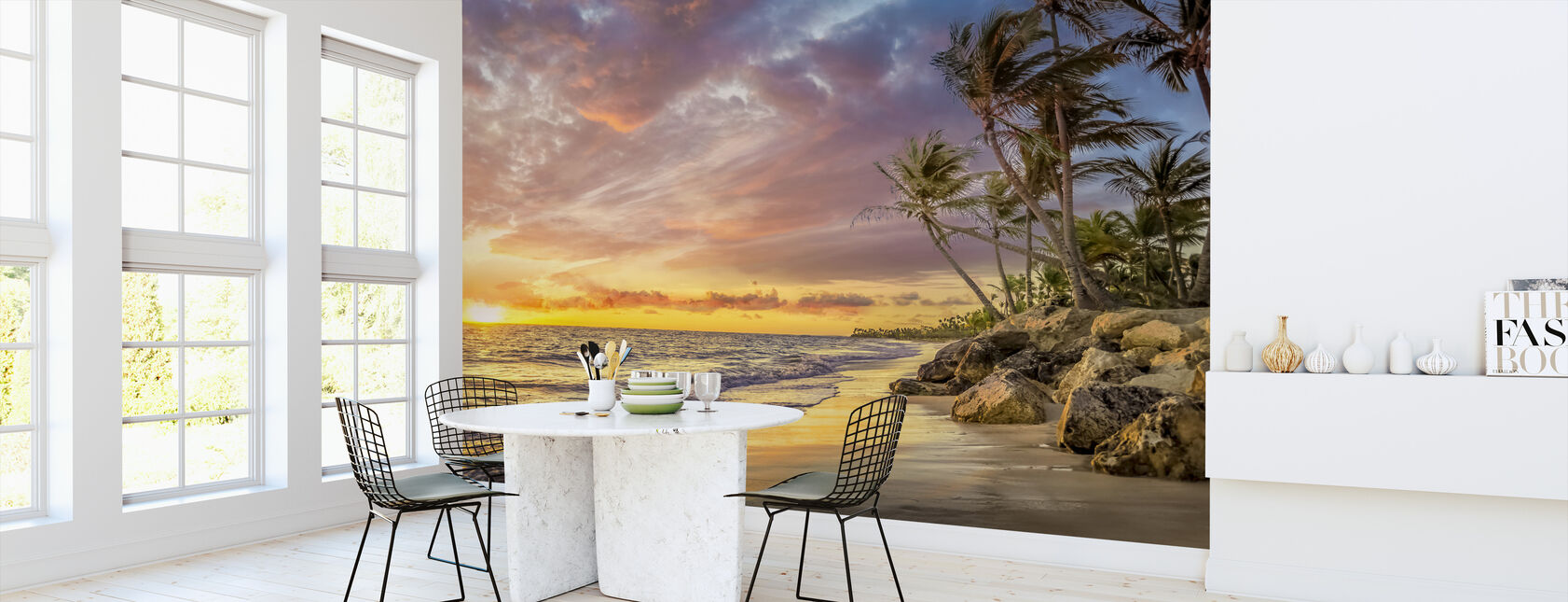 Palm Tree in Sunset - Wallpaper - Kitchen