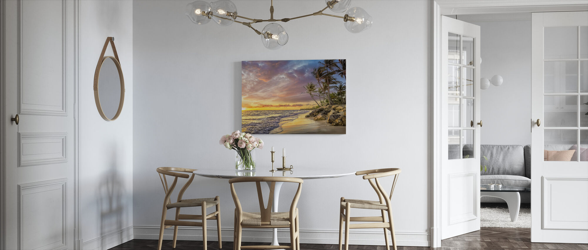 Palm Tree in Sunset - Canvas print - Kitchen