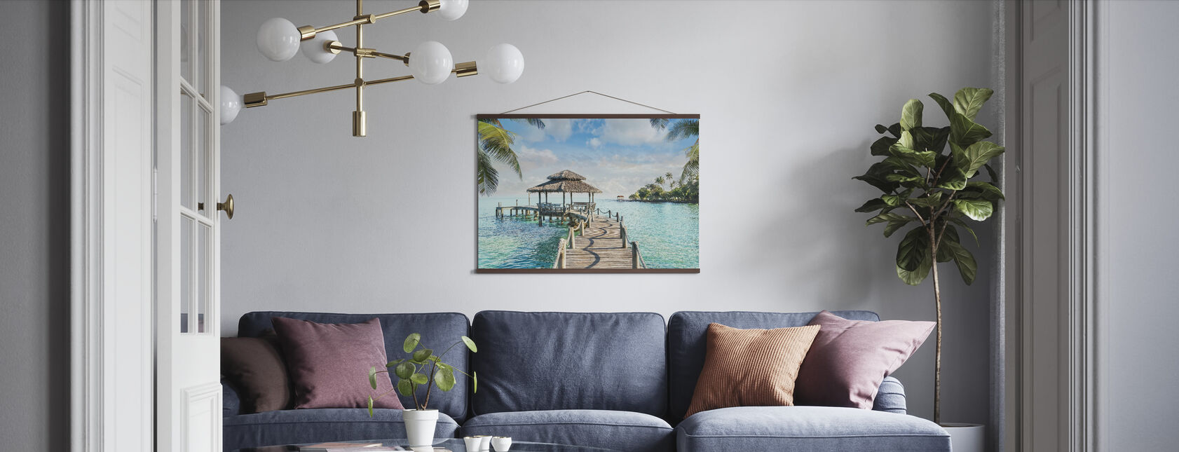 Bungalow on Pier - Poster - Living Room