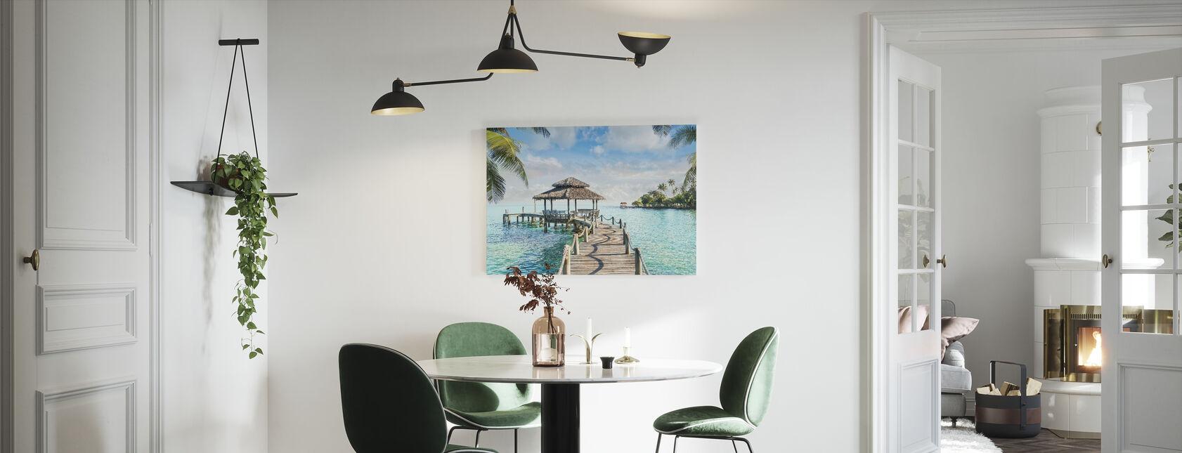 Bungalow on Pier - Canvas print - Kitchen