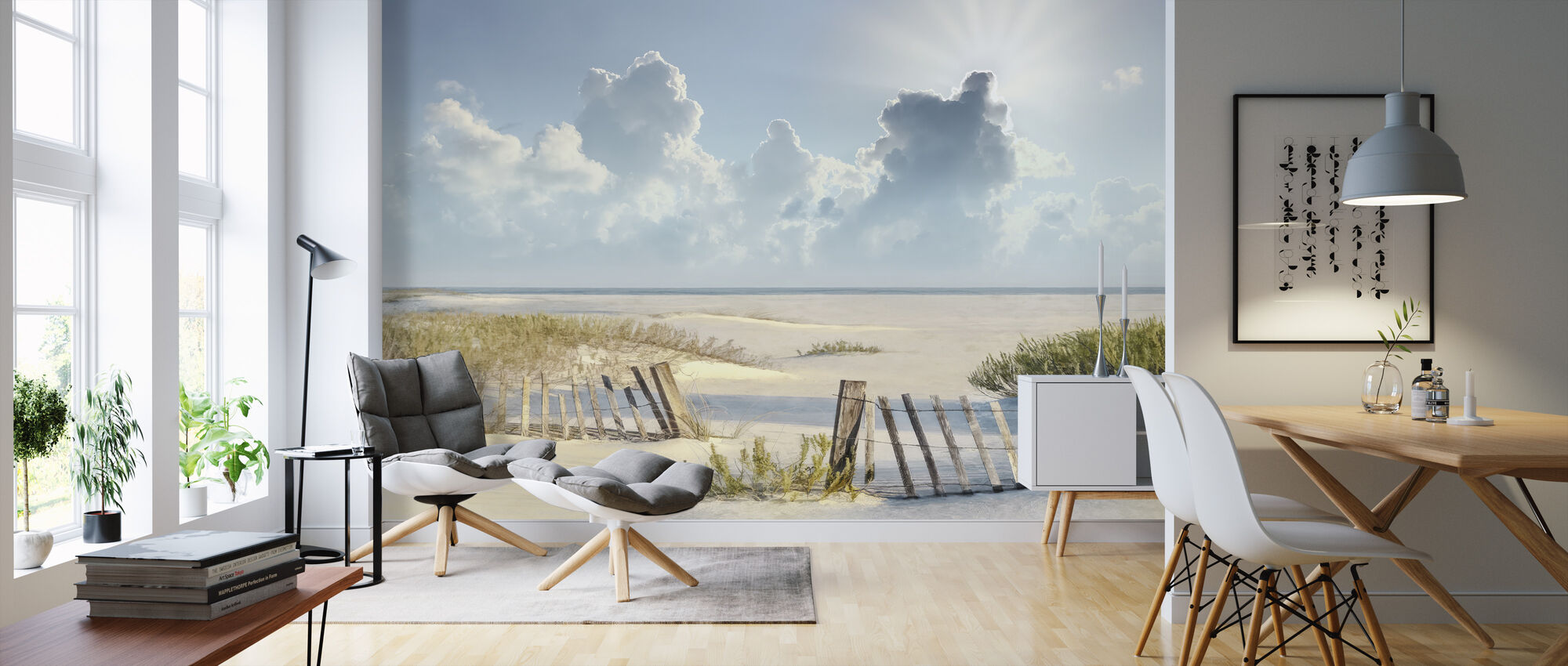 Clouds over Beach - Wallpaper - Living Room