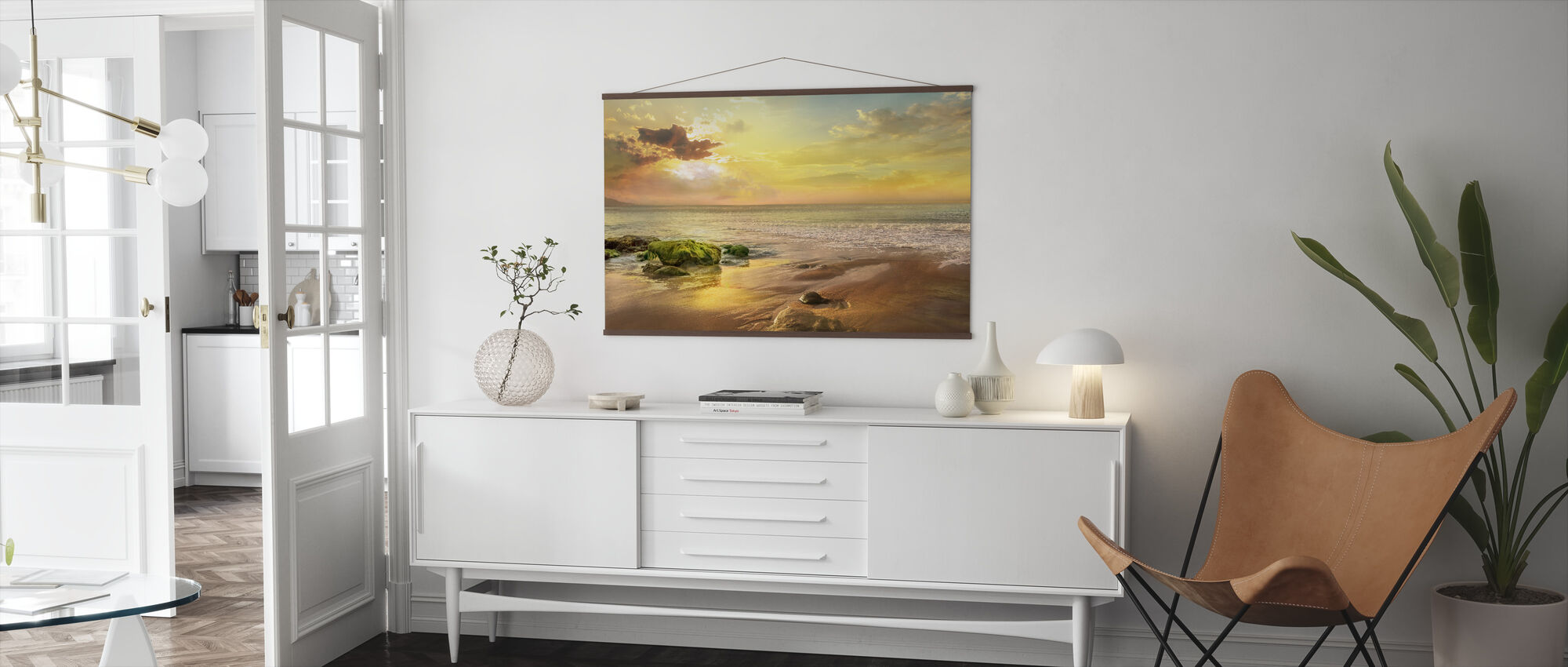 Stones on Beach - Poster - Living Room