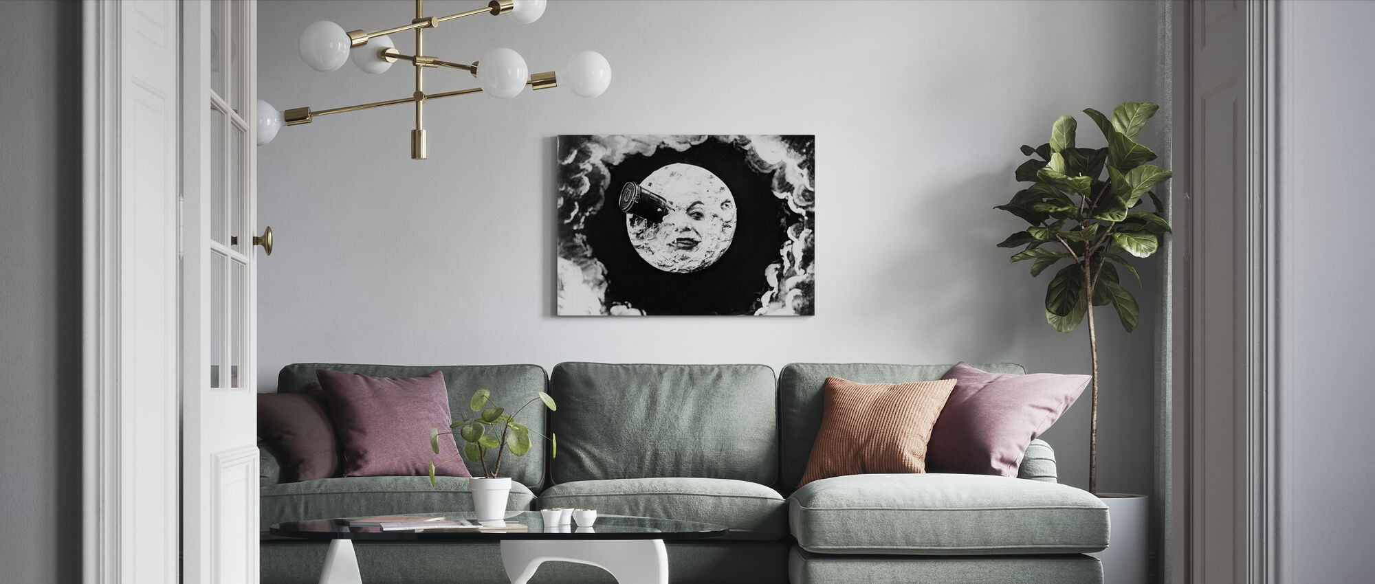 Voyage to the Moon - Georges Melies - Canvas print - Living Room