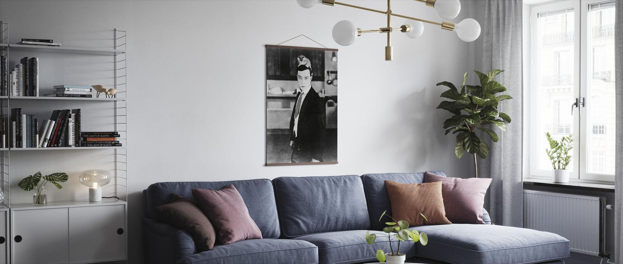 Elektrisk hus - Buster Keaton - Plakat - Stue