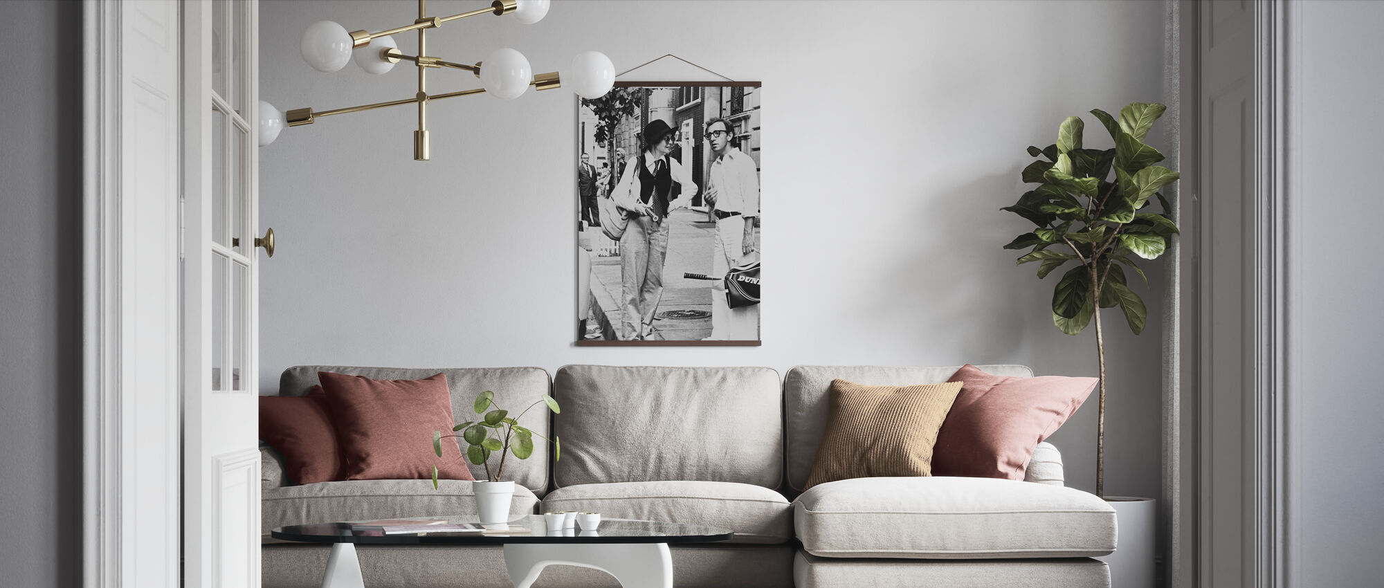 Annie Hall - Diane Keaton and Woody Allen - Poster - Living Room