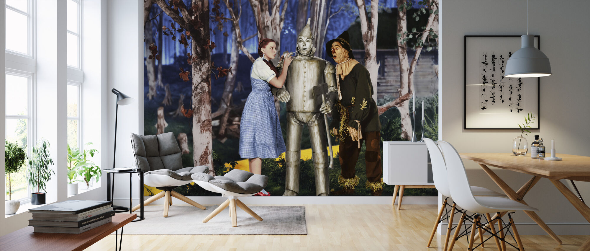 Wizard of Oz - Jack Haley Judy Garland and Ray Bolger - Wallpaper - Living Room