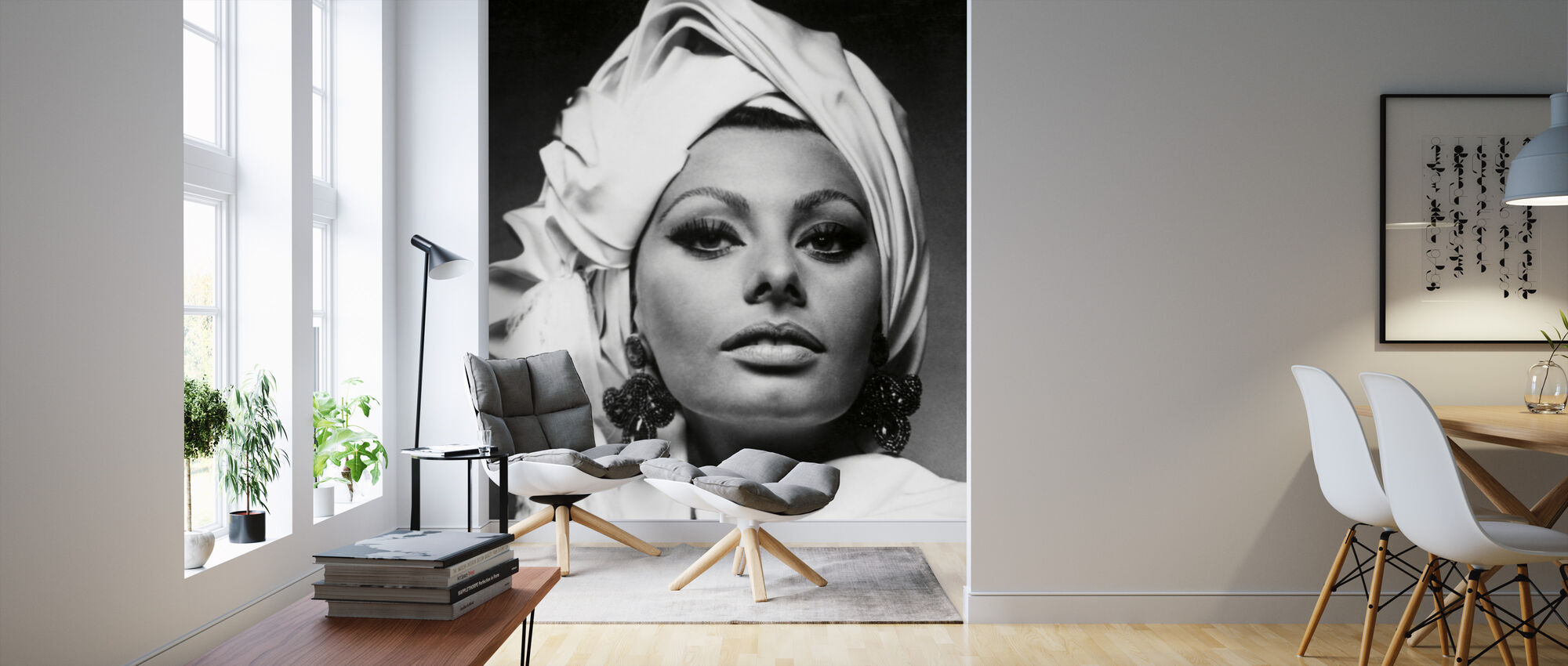 Arabesque - Sophia Loren - Behang - Woonkamer