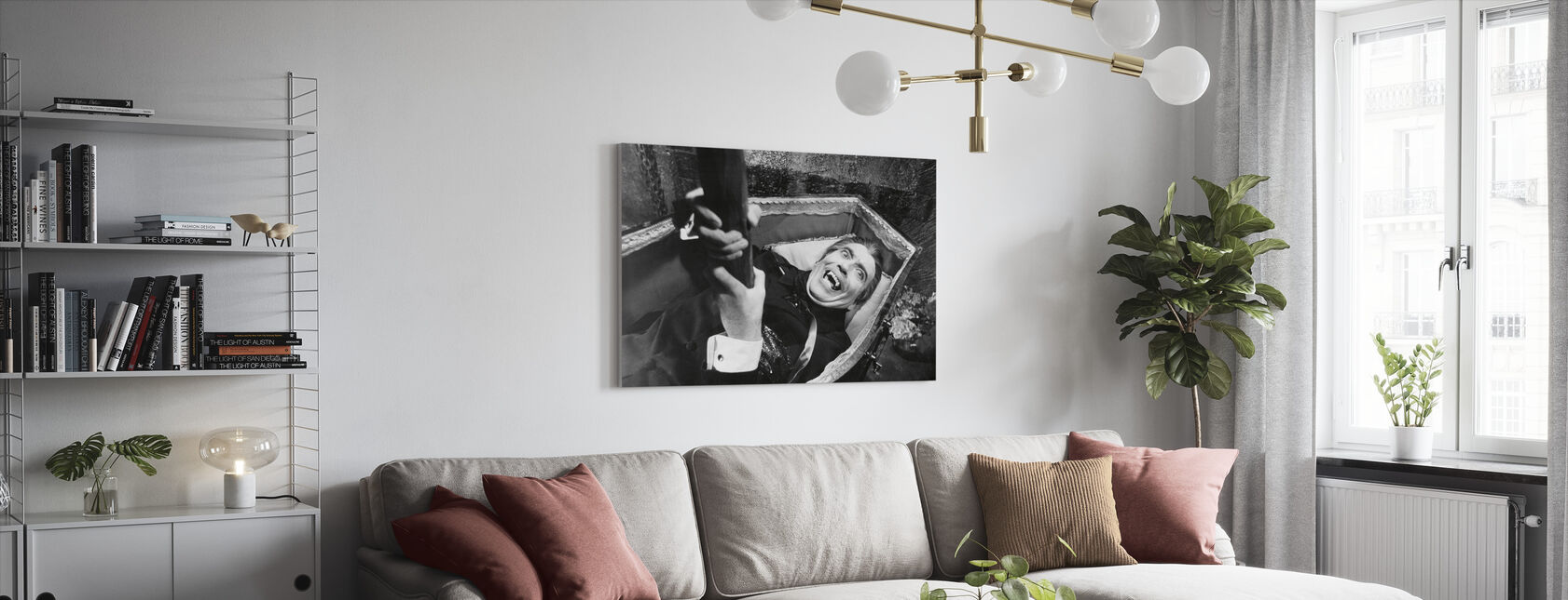 Dracula - Christopher Lee - Canvas print - Woonkamer