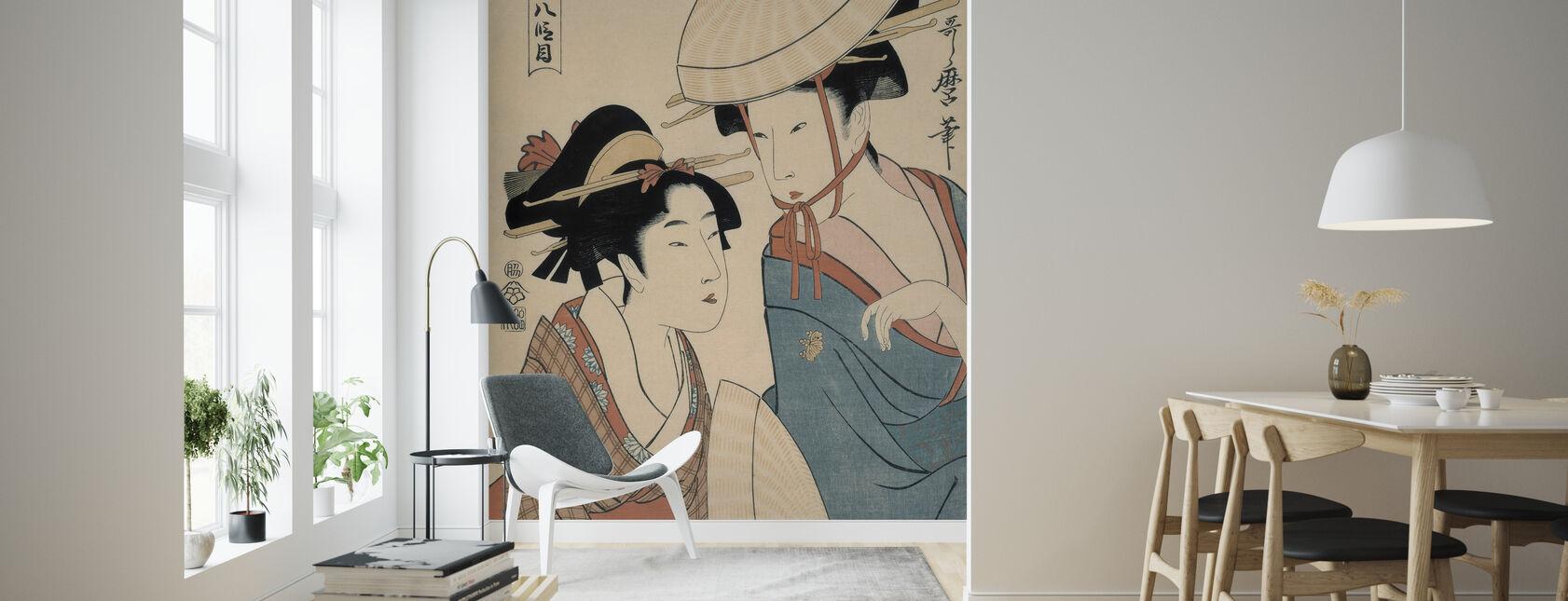 Takamizawa Hachi Damme - Kitagawa Utamaro - Wallpaper - Living Room
