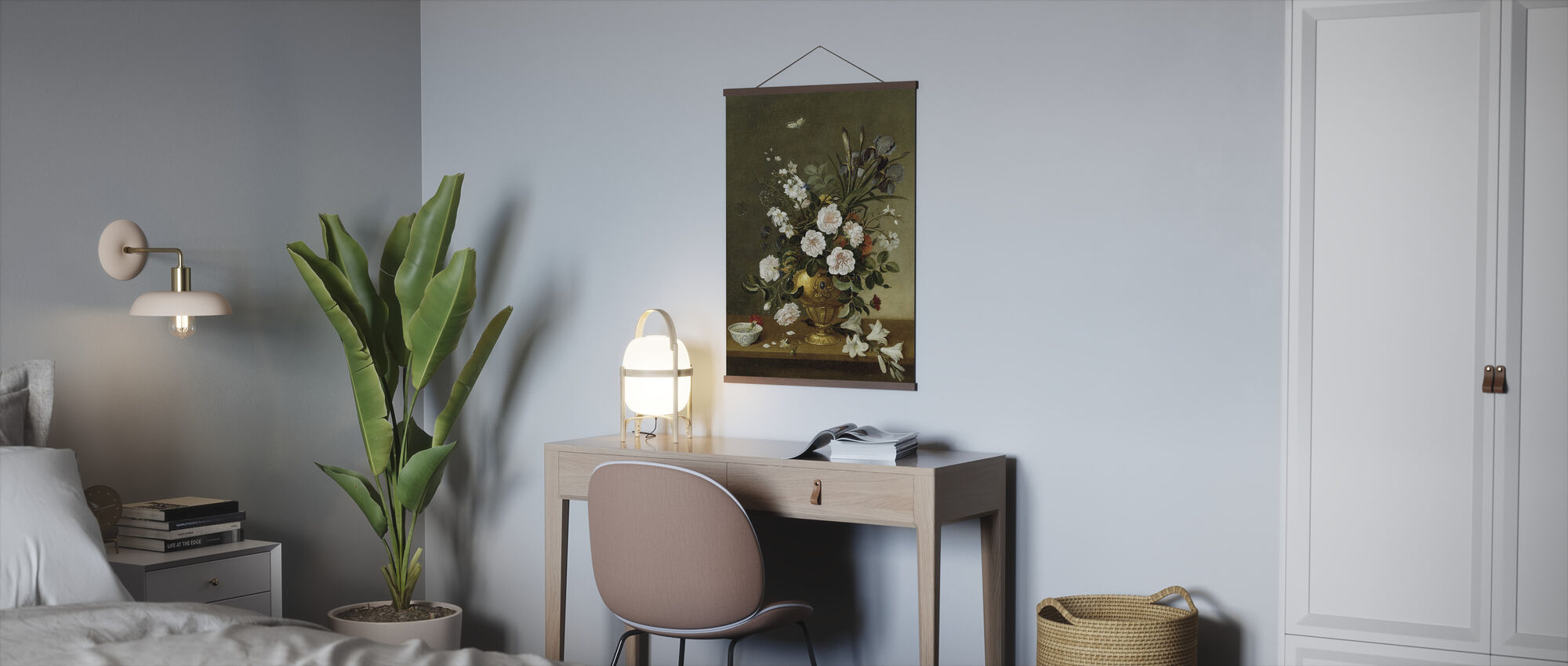 Flower Vase Painting - Pedro Camprobin - Poster - Office