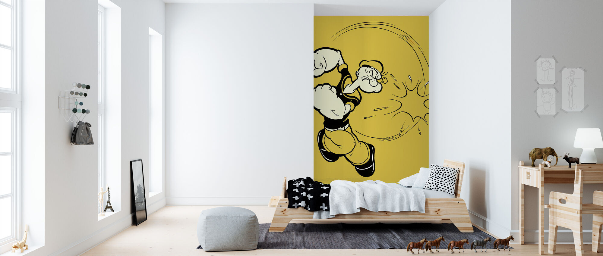 Popeye Punch - Wallpaper - Kids Room