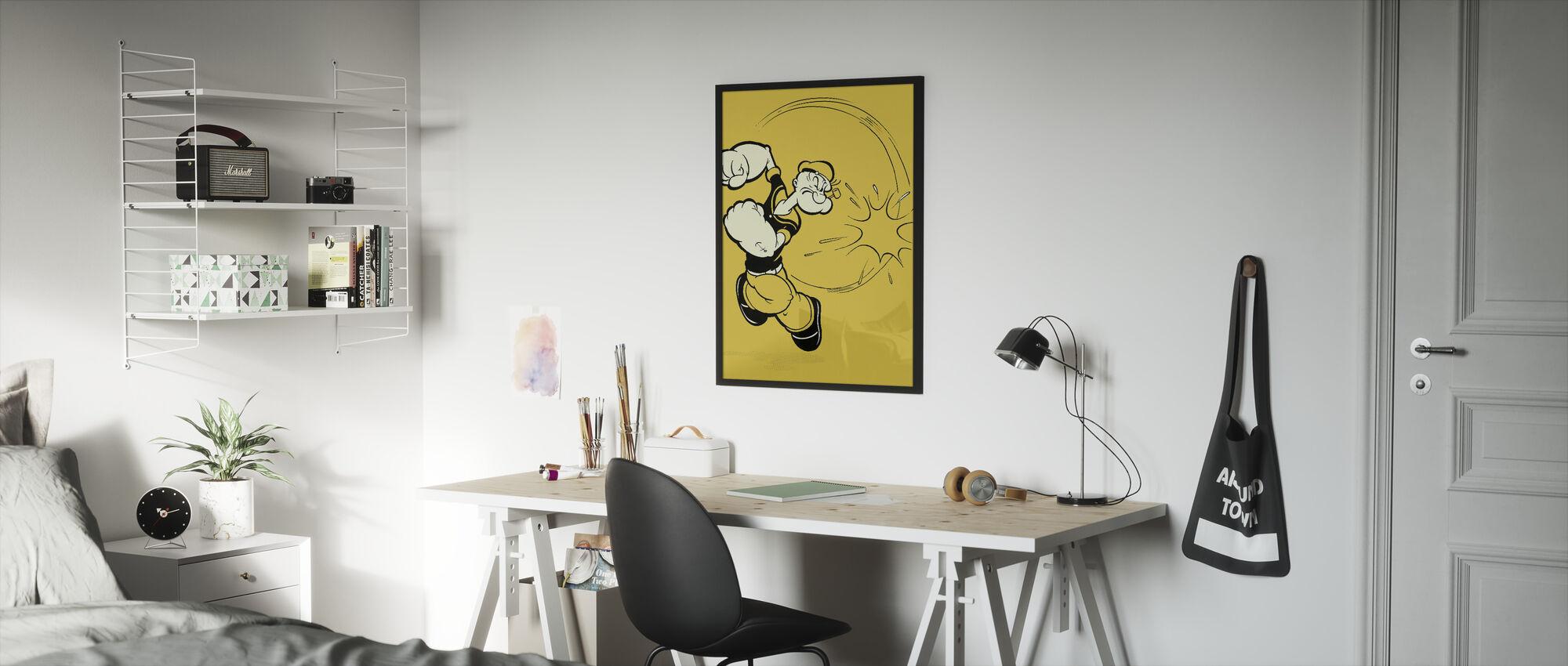 Popeye punsj - Innrammet bilde - Barnerom