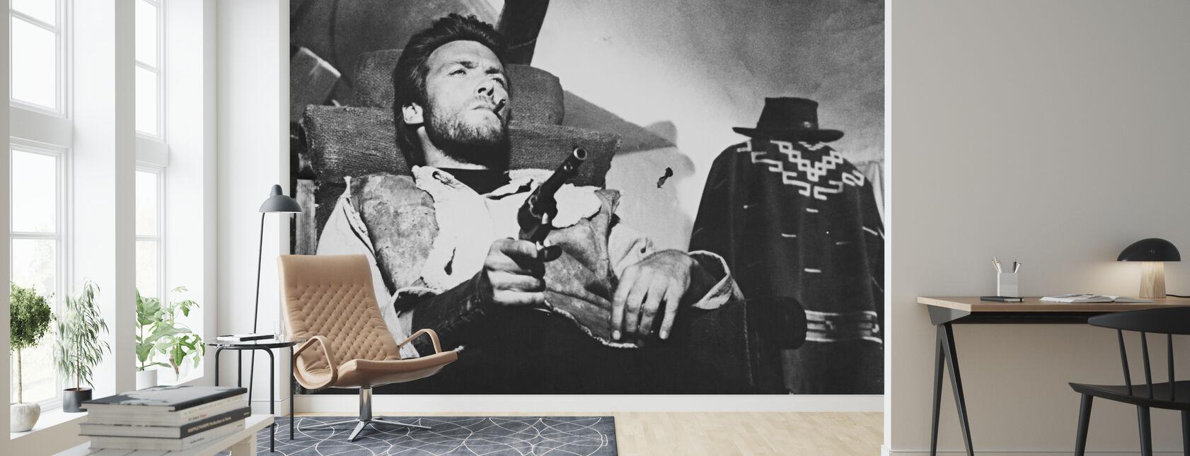 Een paar dollar meer - Clint Eastwood - Behang - Woonkamer