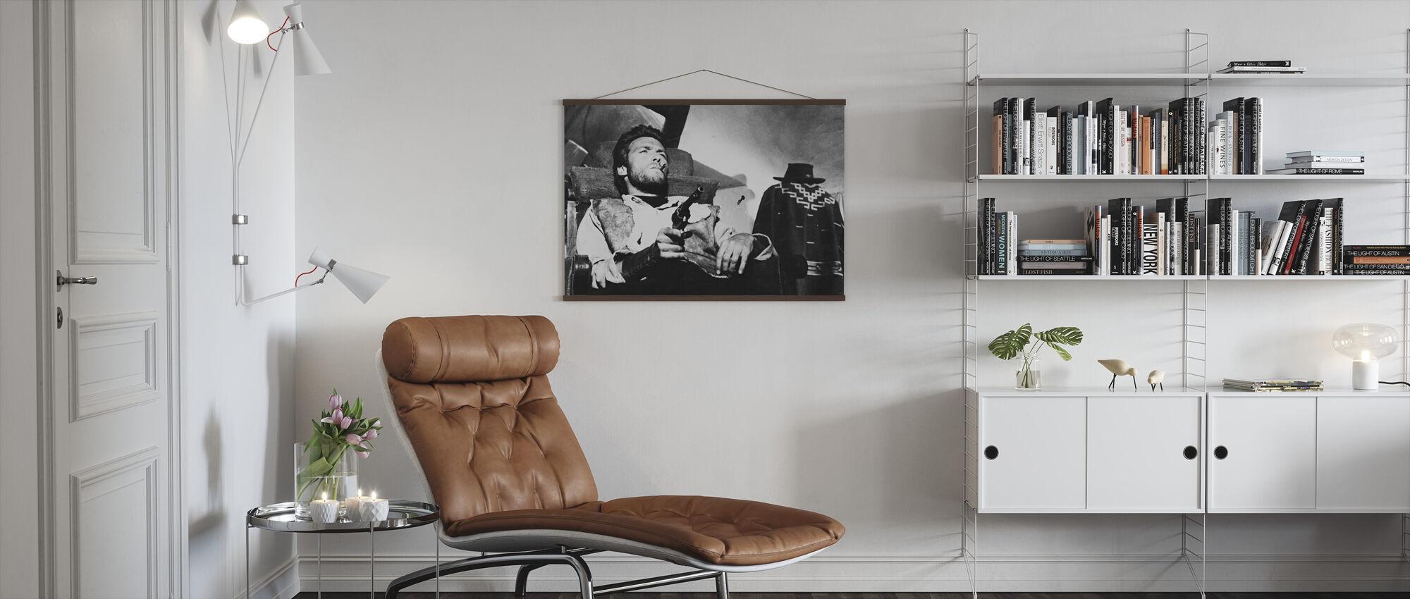 Een paar dollar meer - Clint Eastwood - Poster - Woonkamer
